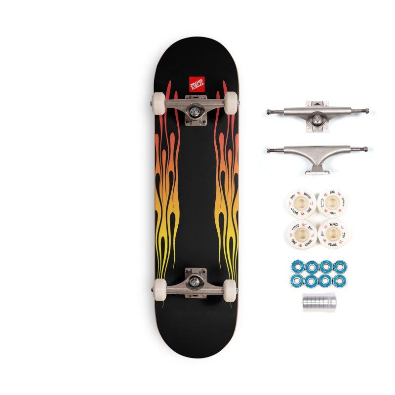 TaterSkinz Flame Job Accessories Complete - Premium Skateboard by Taterskinz