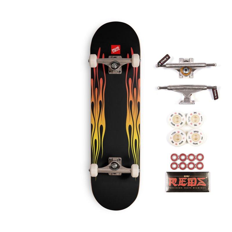 TaterSkinz Flame Job Accessories Skateboard by Taterskinz