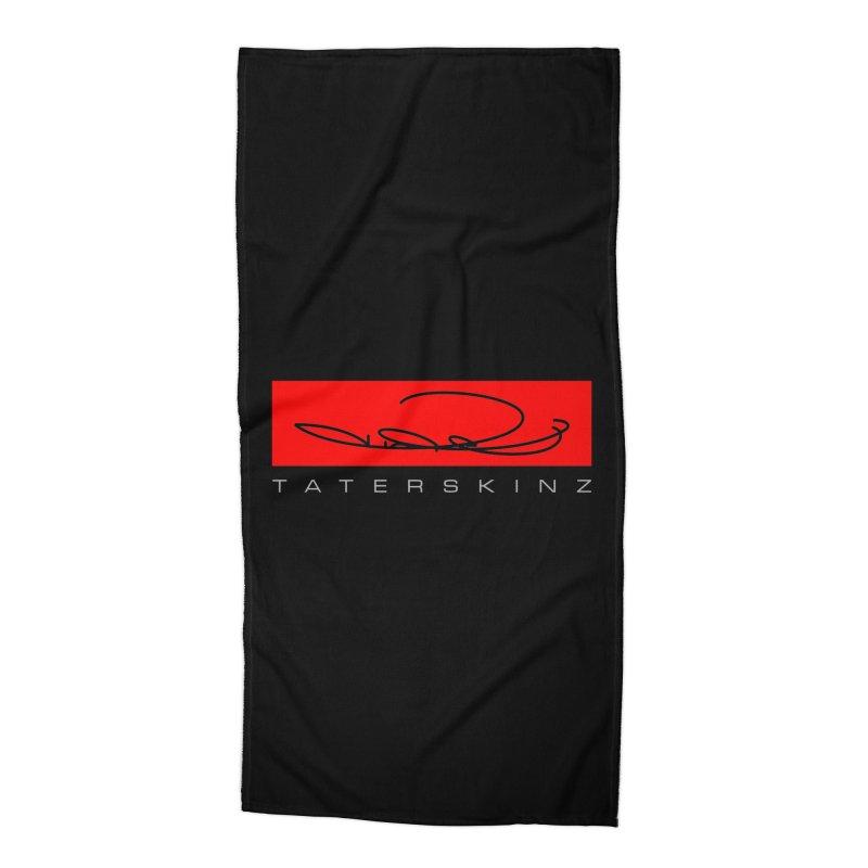 TaterSkinz logo Accessories Beach Towel by TaterSkinz's Artist Shop