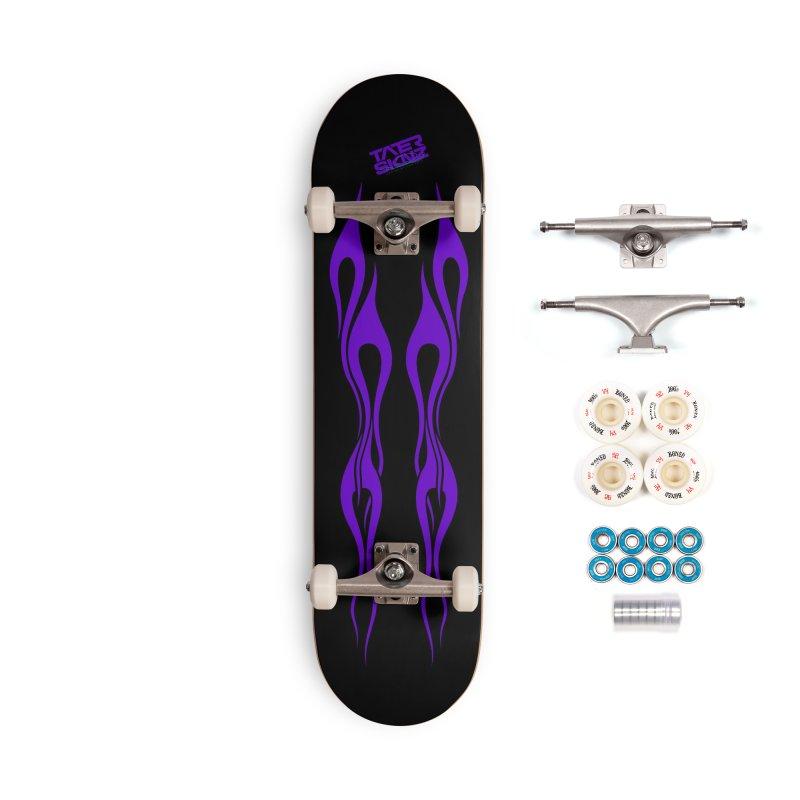 TaterSkinz Purple Flame Skateboard Deck Accessories Complete - Premium Skateboard by Taterskinz