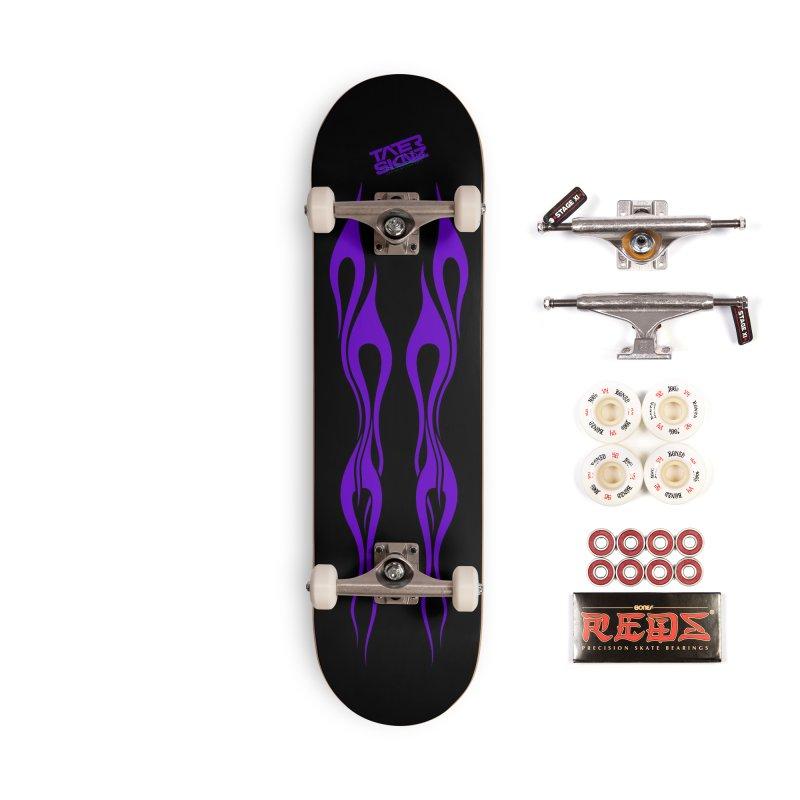 TaterSkinz Purple Flame Skateboard Deck Accessories Complete - Pro Skateboard by Taterskinz