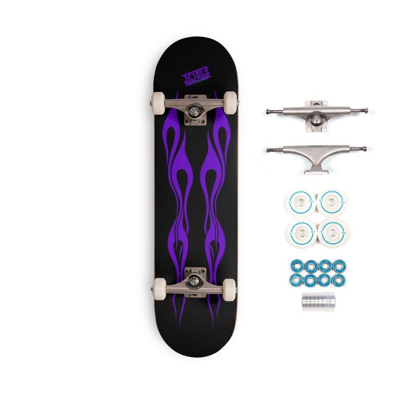 TaterSkinz Purple Flame Skateboard Deck Accessories Complete - Basic Skateboard by Taterskinz