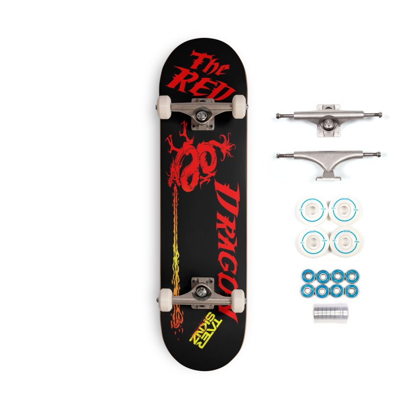 The Red Dragon by TaterSkinz Accessories Complete - Basic Skateboard by Taterskinz