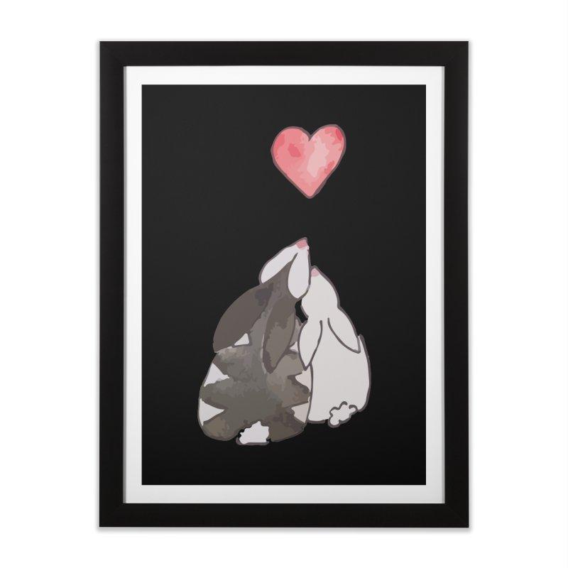Love Bunnies Home Framed Fine Art Print by TaylorHoyum's Artist Shop
