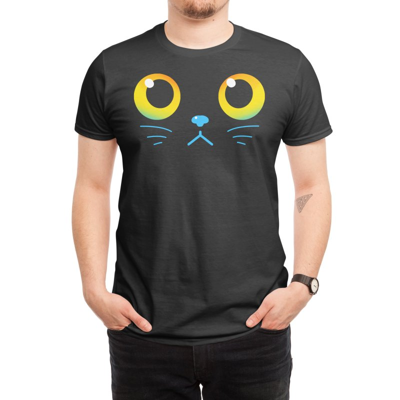Curious Black Cat Eyes Men's T-Shirt by TechraNova's Shop of adorable designs!