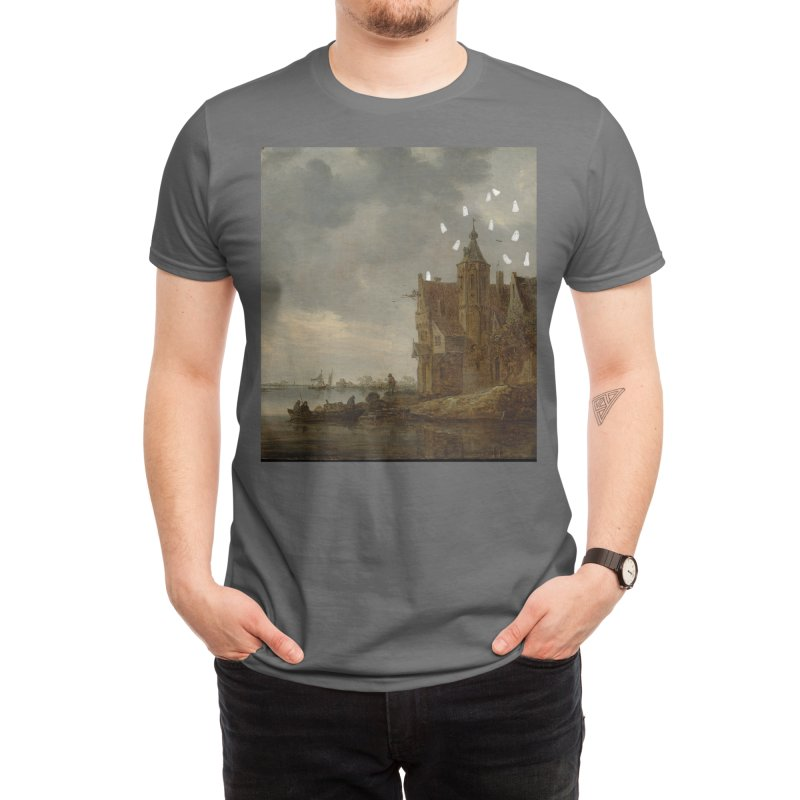 Haunted house Men's T-Shirt by Teenyghosts's Artist Shop