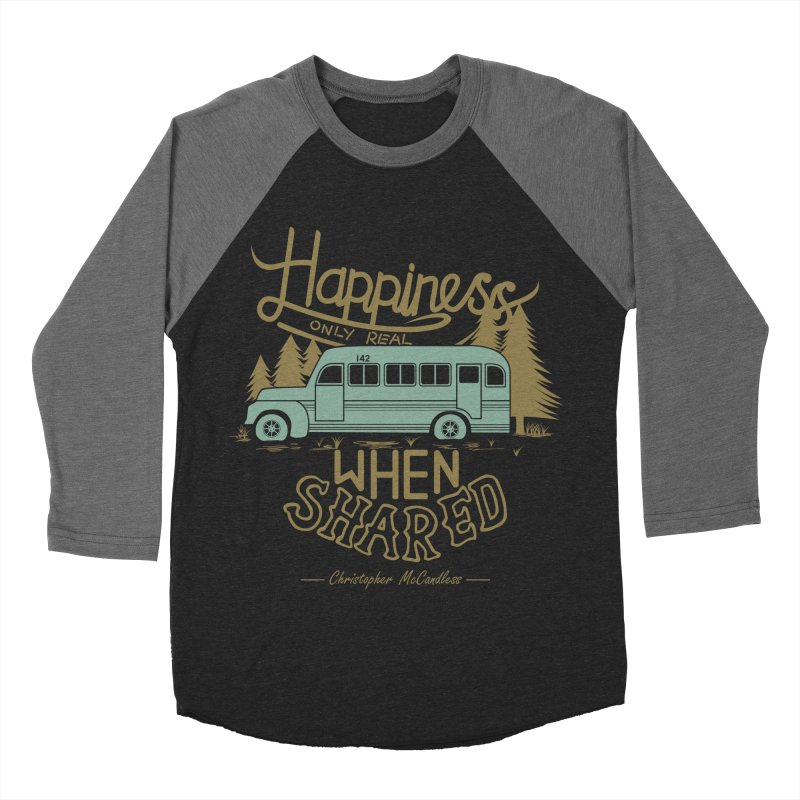 Happiness Men's Baseball Triblend T-Shirt by Teetalk Artist Shop
