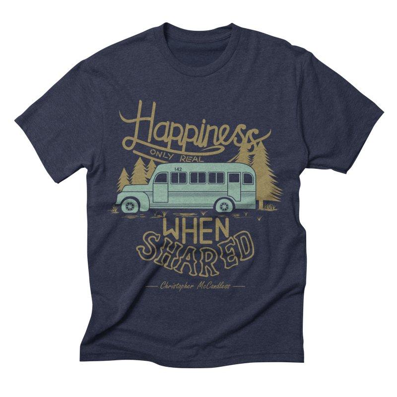 Happiness Men's Triblend T-shirt by Teetalk Artist Shop