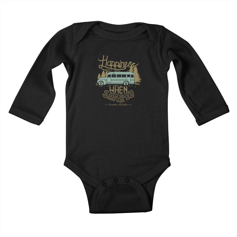 Happiness Kids Baby Longsleeve Bodysuit by Teetalk Artist Shop