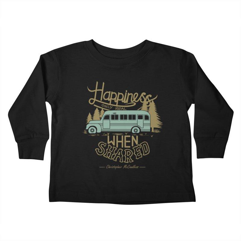 Happiness Kids Toddler Longsleeve T-Shirt by Teetalk Artist Shop