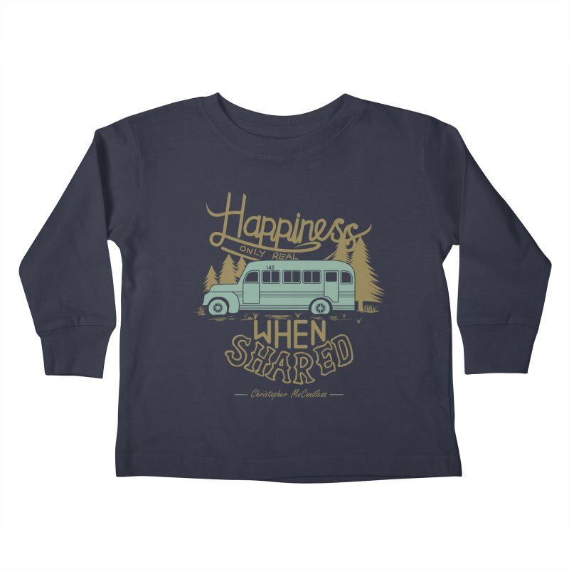 Happiness Kids Toddler Longsleeve T-Shirt by Teetalk Artist Shop