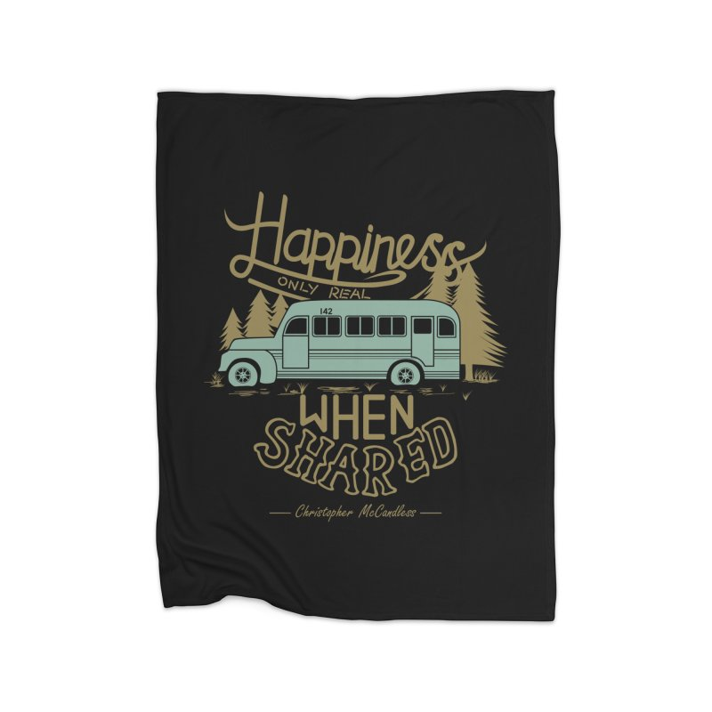 Happiness Home Blanket by Teetalk Artist Shop