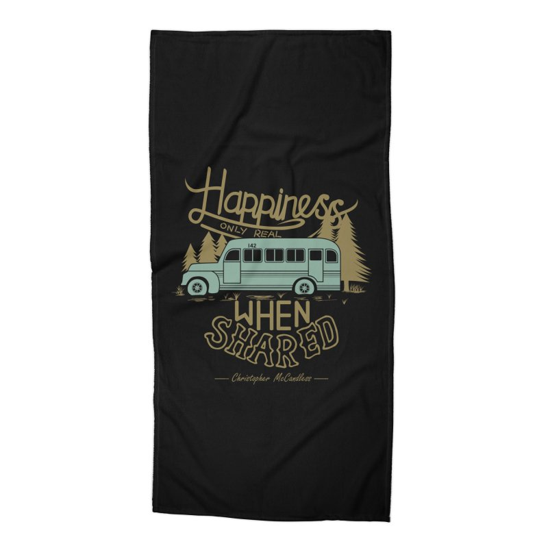 Happiness Accessories Beach Towel by Teetalk Artist Shop