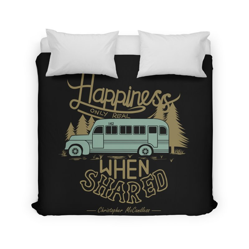 Happiness Home Duvet by Teetalk Artist Shop