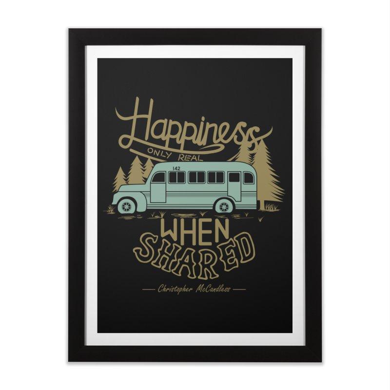 Happiness Home Framed Fine Art Print by Teetalk Artist Shop