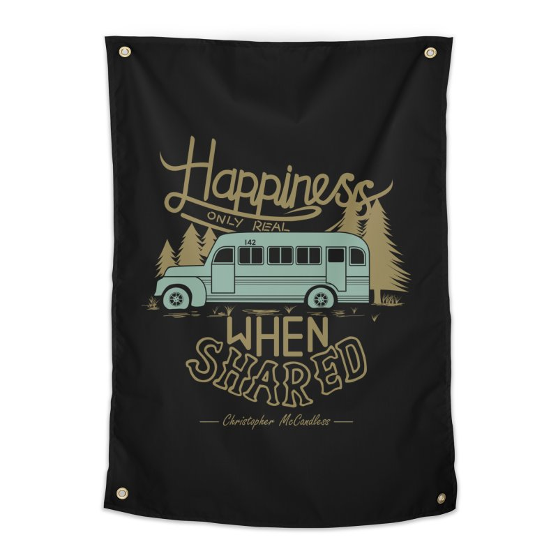 Happiness Home Tapestry by Teetalk Artist Shop