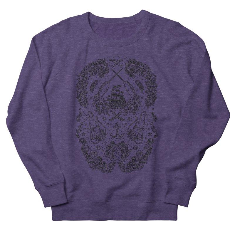 Narwhal Pirates Black Print Women's Sweatshirt by Teja Jamilla's Artist Shop