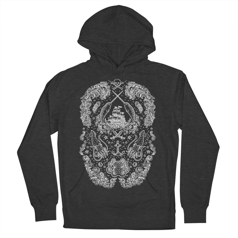 Narwhal Pirates White Print Women's Pullover Hoody by Teja Jamilla's Artist Shop