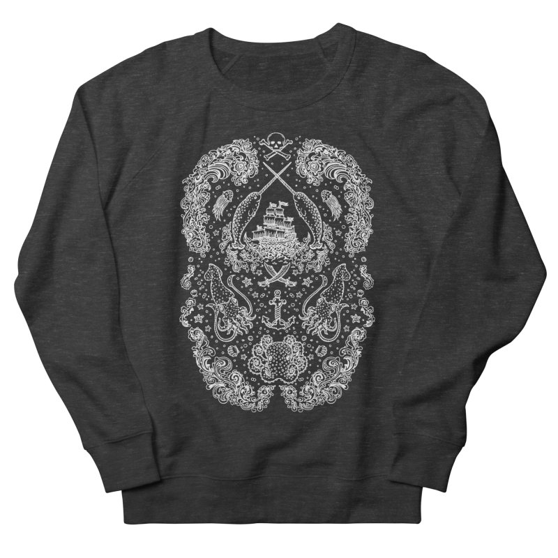 Narwhal Pirates White Print Women's Sweatshirt by Teja Jamilla's Artist Shop