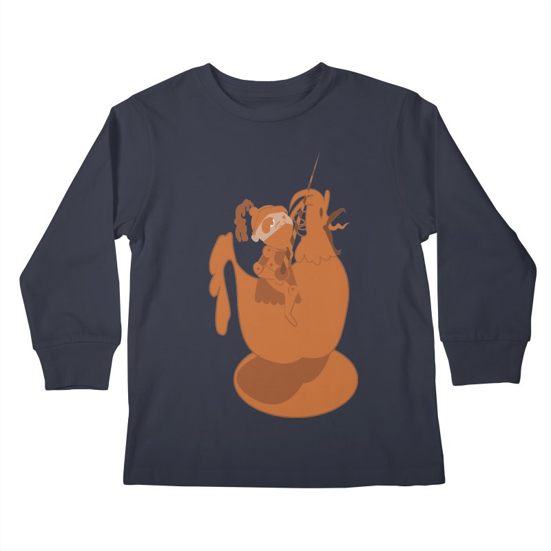 Knights aren't Chicken Kids Longsleeve T-Shirt by TenAnchors's Artist Shop