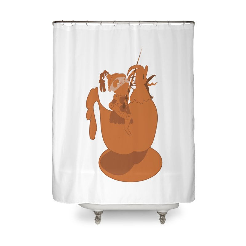 Knights aren't Chicken Home Shower Curtain by TenAnchors's Artist Shop