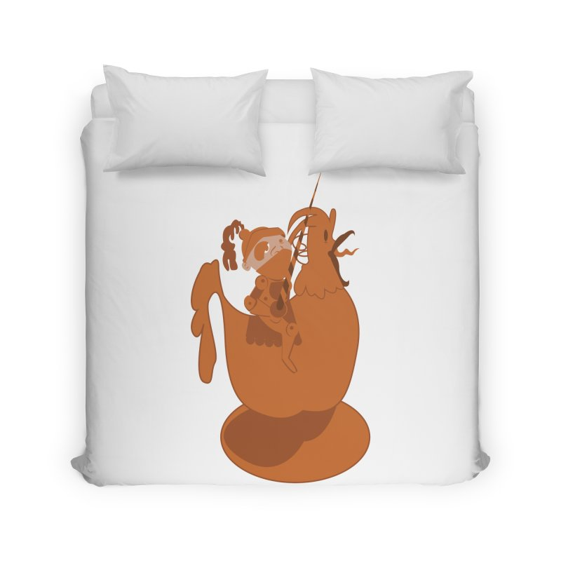 Knights aren't Chicken Home Duvet by TenAnchors's Artist Shop