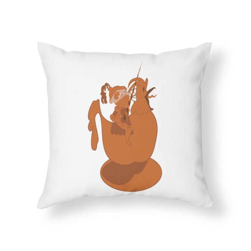 Knights aren't Chicken Home Throw Pillow by TenAnchors's Artist Shop