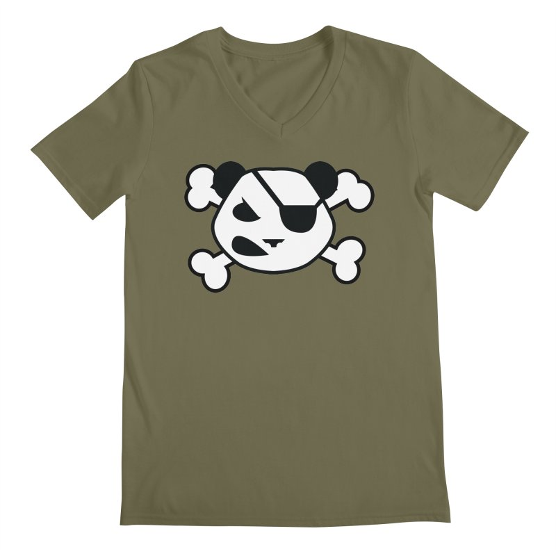 The Fearless Panda Men's V-Neck by TenAnchors's Artist Shop