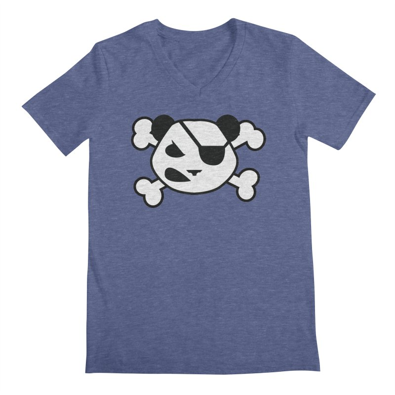 The Fearless Panda Men's V-Neck by TenAnchors's Artist Shop