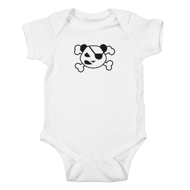 The Fearless Panda Kids Baby Bodysuit by TenAnchors's Artist Shop
