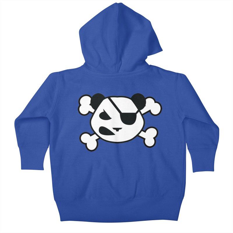 The Fearless Panda Kids Baby Zip-Up Hoody by TenAnchors's Artist Shop