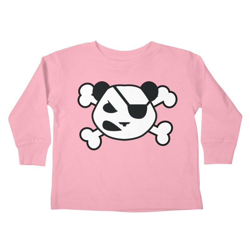 The Fearless Panda Kids Toddler Longsleeve T-Shirt by TenAnchors's Artist Shop