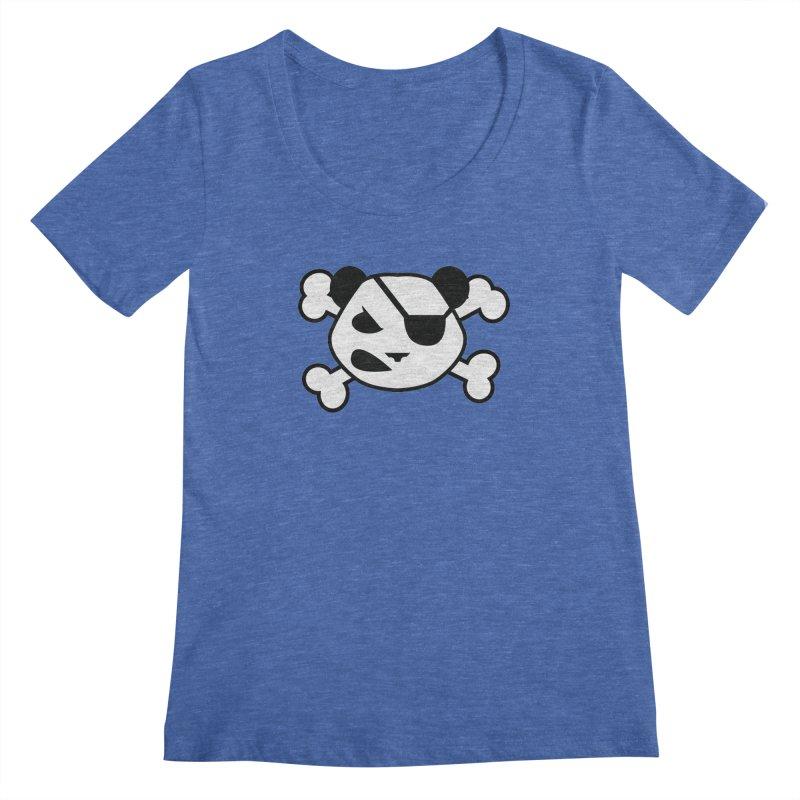The Fearless Panda Women's Scoopneck by TenAnchors's Artist Shop