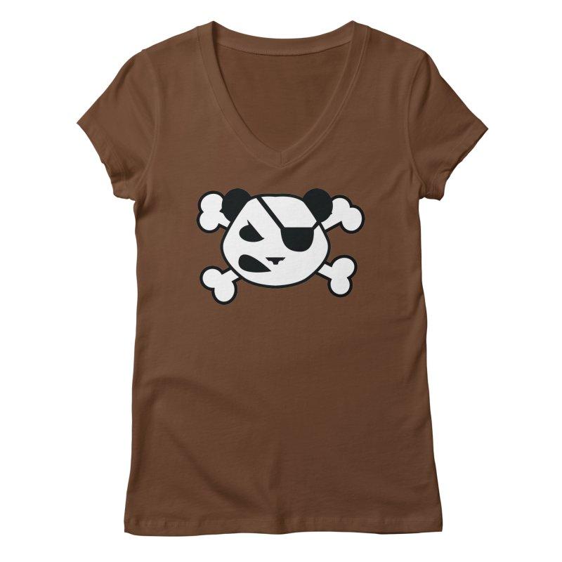 The Fearless Panda Women's V-Neck by TenAnchors's Artist Shop