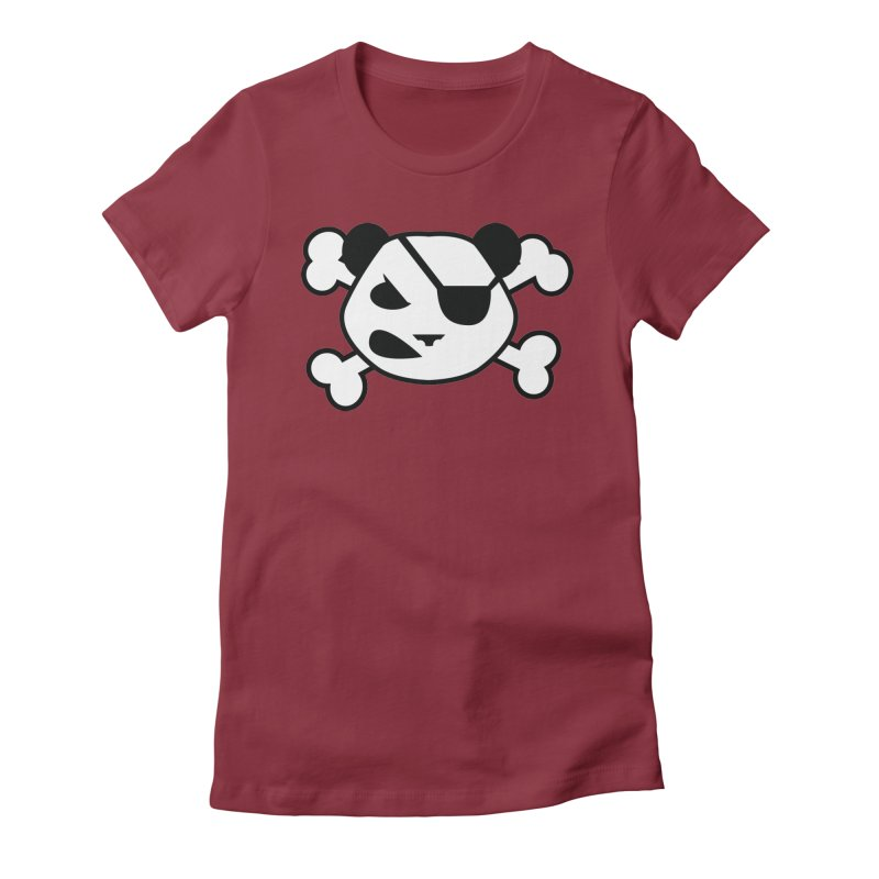 The Fearless Panda Women's Fitted T-Shirt by TenAnchors's Artist Shop