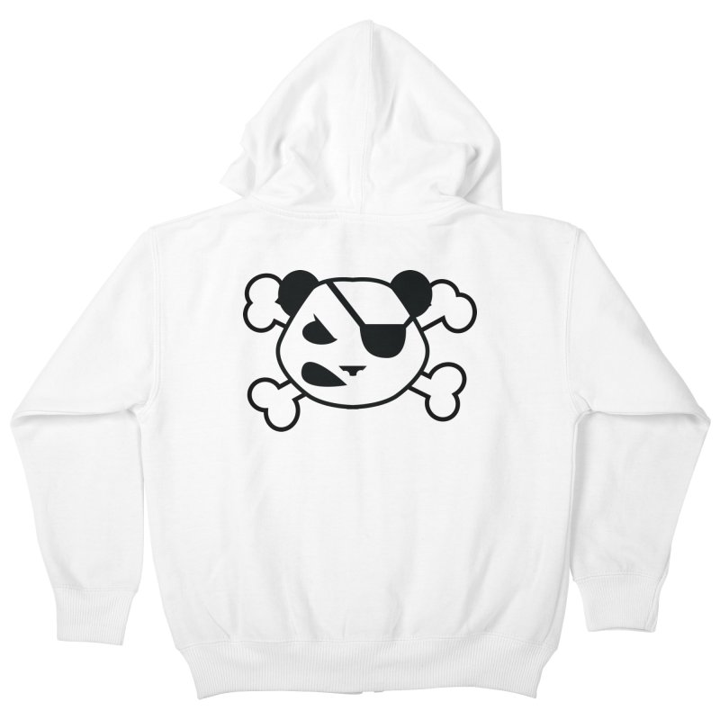 The Fearless Panda Kids Zip-Up Hoody by TenAnchors's Artist Shop