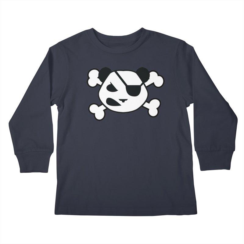 The Fearless Panda Kids Longsleeve T-Shirt by TenAnchors's Artist Shop