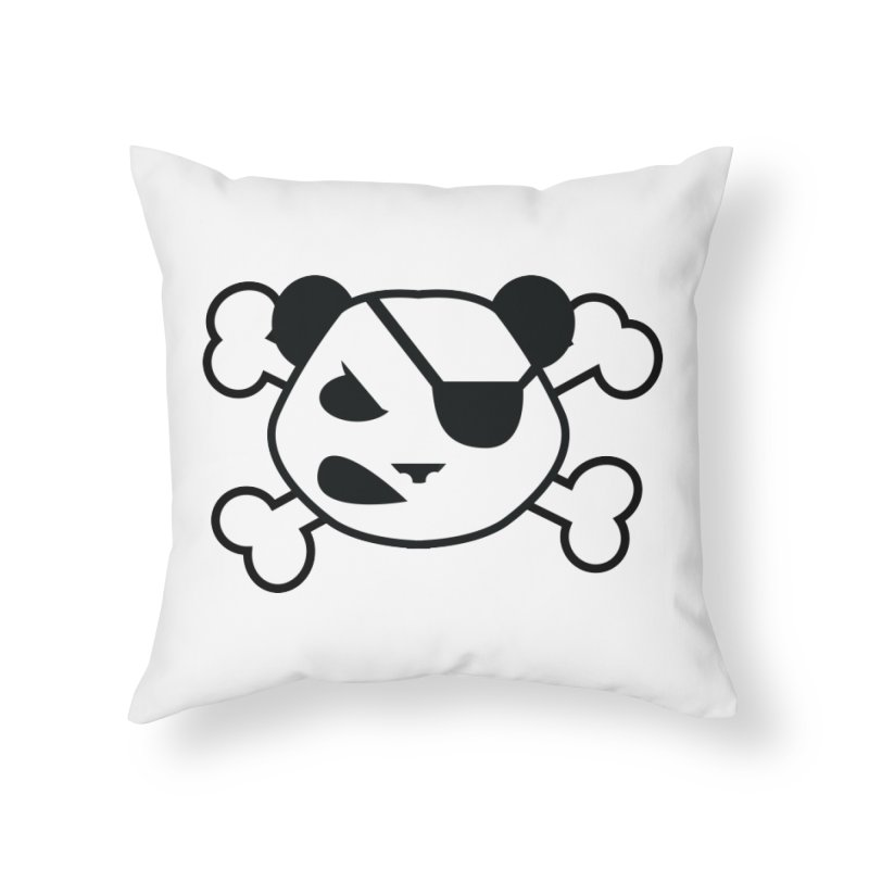 The Fearless Panda Home Throw Pillow by TenAnchors's Artist Shop