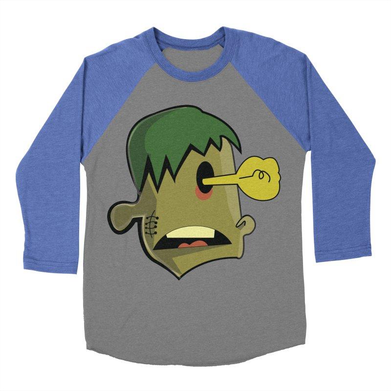 Zombie Idea Men's Baseball Triblend T-Shirt by TenAnchors's Artist Shop