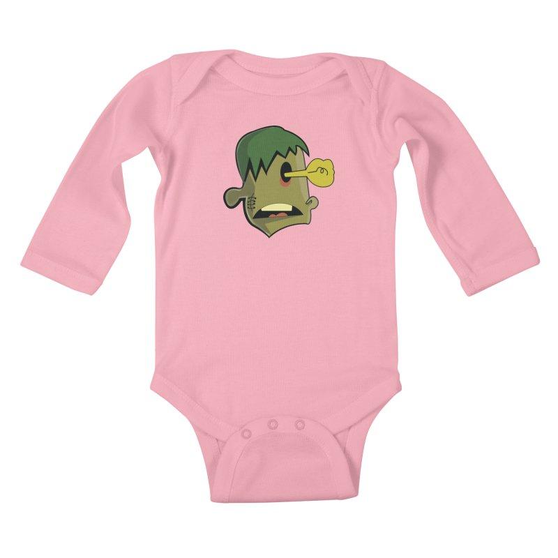 Zombie Idea Kids Baby Longsleeve Bodysuit by TenAnchors's Artist Shop
