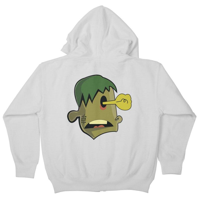Zombie Idea Kids Zip-Up Hoody by TenAnchors's Artist Shop