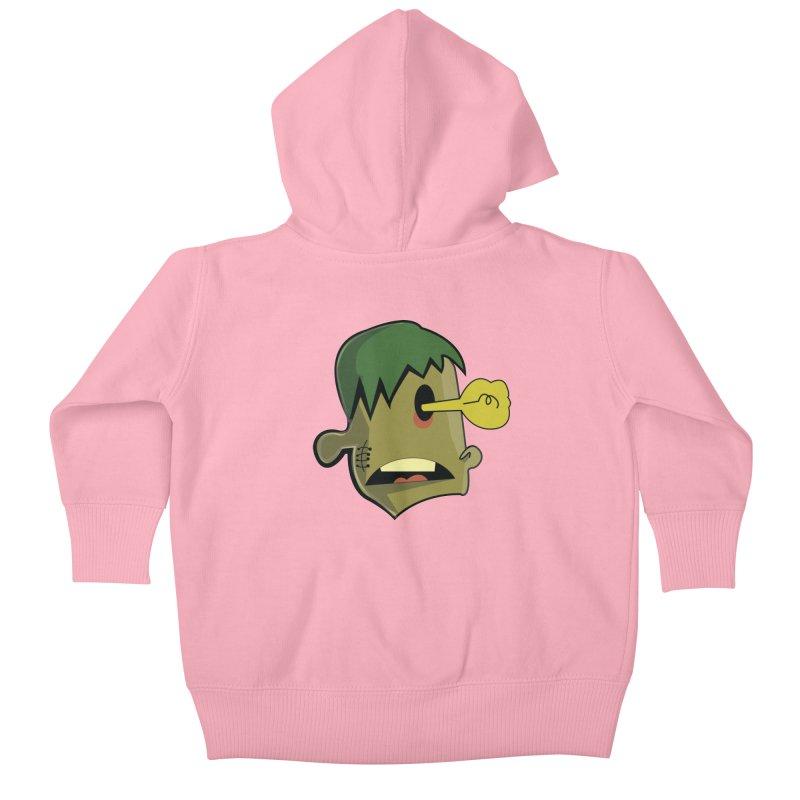 Zombie Idea Kids Baby Zip-Up Hoody by TenAnchors's Artist Shop