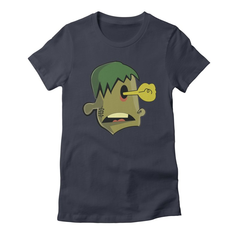 Zombie Idea Women's Fitted T-Shirt by TenAnchors's Artist Shop