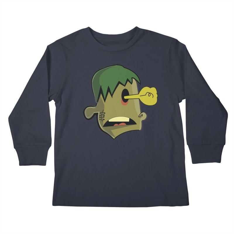 Zombie Idea Kids Longsleeve T-Shirt by TenAnchors's Artist Shop