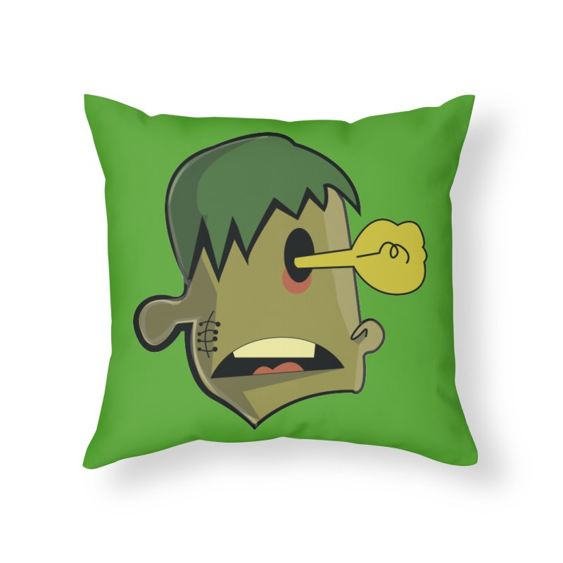 Zombie Idea Home Throw Pillow by TenAnchors's Artist Shop