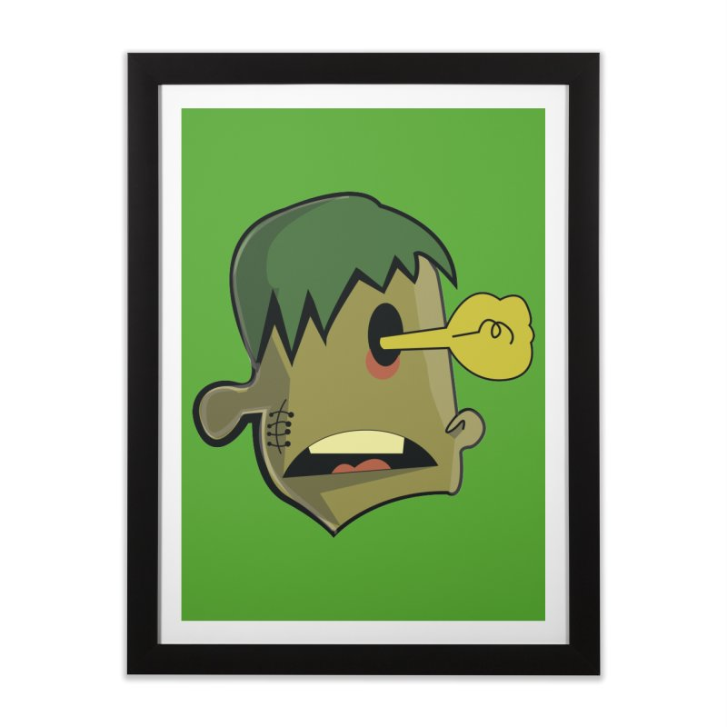 Zombie Idea Home Framed Fine Art Print by TenAnchors's Artist Shop