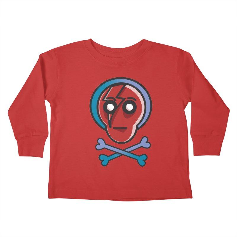 Bots 'n' Bones Kids Toddler Longsleeve T-Shirt by TenAnchors's Artist Shop