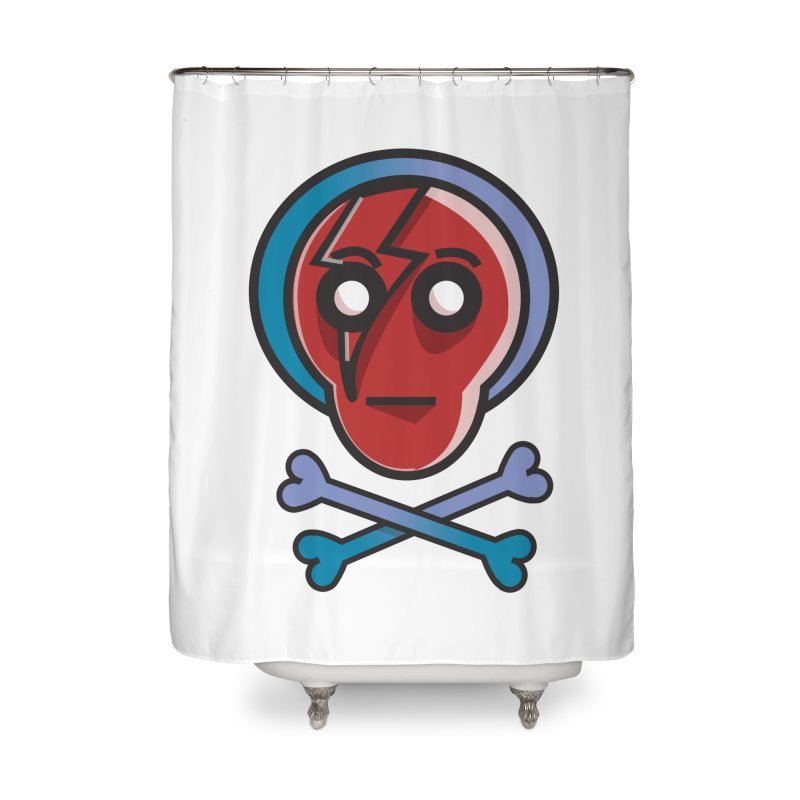 Bots 'n' Bones Home Shower Curtain by TenAnchors's Artist Shop