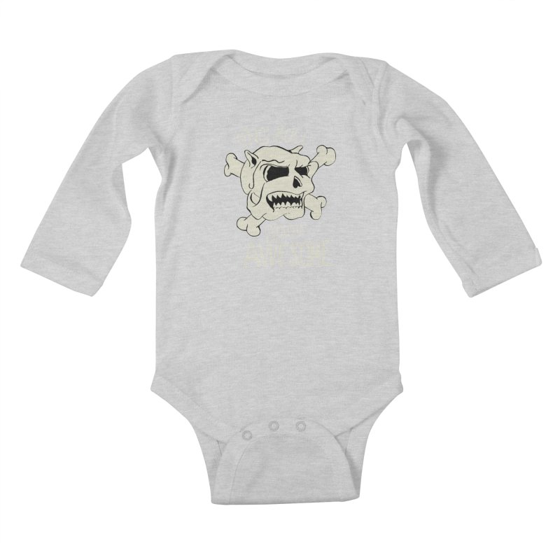 No Bull You're Awesome Kids Baby Longsleeve Bodysuit by TenAnchors's Artist Shop
