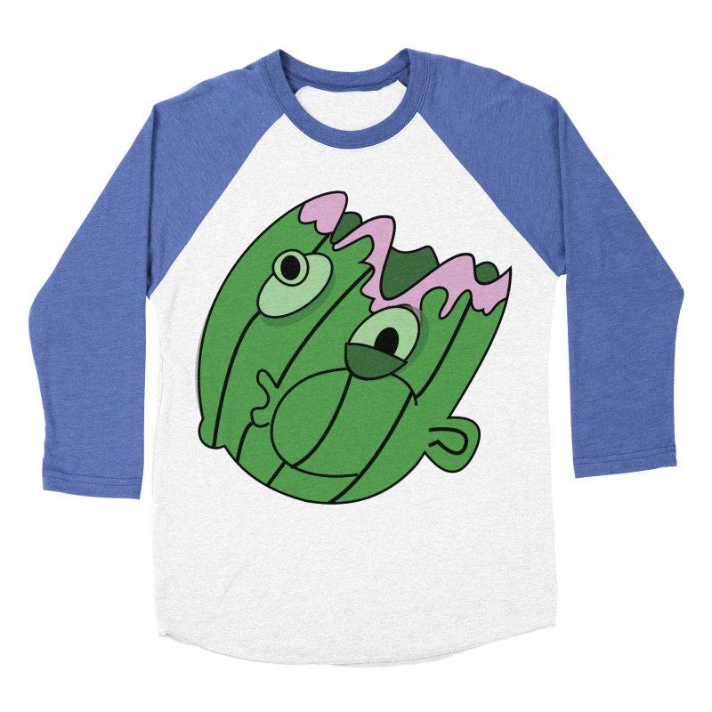 melonhead Men's Baseball Triblend T-Shirt by TenAnchors's Artist Shop
